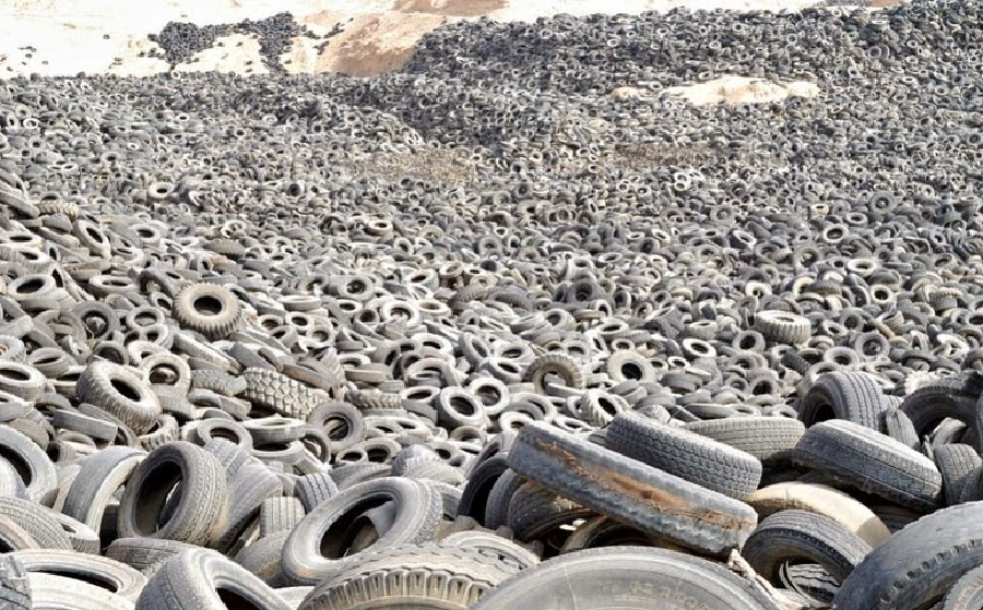old tire graveyard in kuwait piles of worn out tires