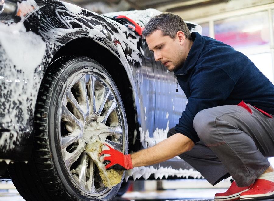 man washing car giving car needed tlc